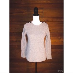 MADEWELL Wallace Gray Merino Wool Pullover Sweater